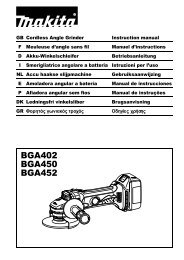 BGA402 BGA450 BGA452 - Makita