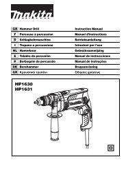 HP1630 HP1631 - Makita