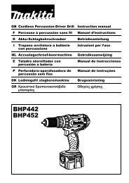 BHP442 BHP452 - Makita
