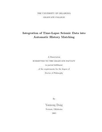 Integration of Time-Lapse Seismic Data into Automatic History ...