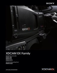 XDCAM EX Family - Sony