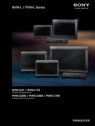 BVM-L / PVM-L Series - Sony Professional Solutions Asia Pacific
