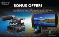 Offer Valid February 1, 2010 - Sony