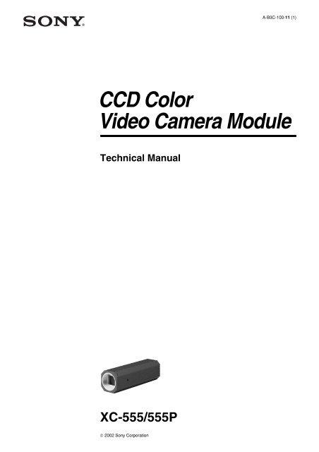 CCD Color Video Camera Module - Sony