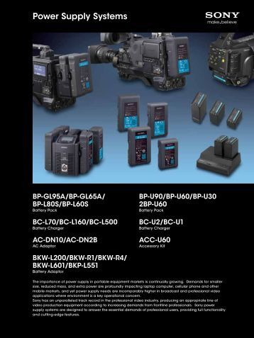 Power Supply Systems - Sony