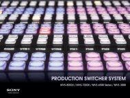 PRODUCTION SWITCHER SYSTEM - Sony