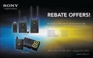 REBATE OFFERS! - Sony Canada