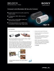 SNC-CH110 - Sony