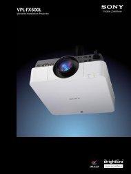 VPL-FX500L - Sony