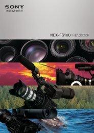 NEX-FS100 Handbook - Sony