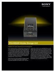 PXU-MS240 Mobile Storage Unit - Sony