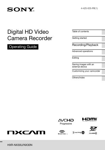 Digital HD Video Camera Recorder - Sony
