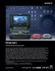 PDW-HR1 - Sony