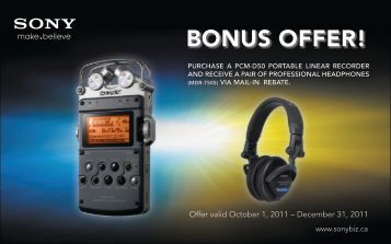 BONUS OFFER! - Sony