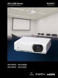 VPL-C200 Series - Sony