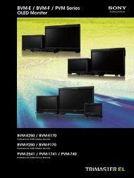 BVM-E / BVM-F / PVM Series OLED Monitor - Sony