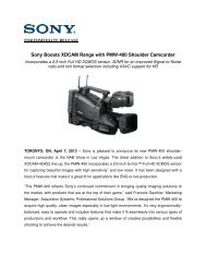Sony Boosts XDCAM Range with PMW-400 Shoulder Camcorder