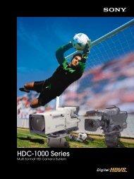 HDC-1000 Series - Sony