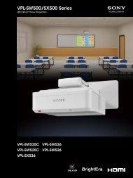 VPL-SW500/SX500 Series
