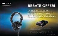REBATE OFFER! - Sony Canada