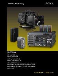 SRMASTER Family SR-R1000 SR-R1/SR-R4 SRPC-5/SR ... - Sony