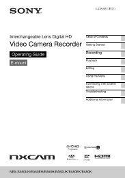 Video Camera Recorder - Sony