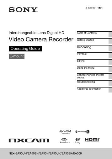 Video Camera Recorder - Sony
