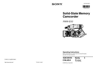 Solid-State Memory Camcorder - Sony
