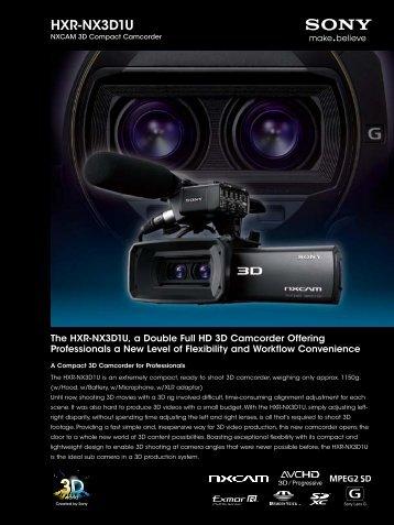 HXR-NX3D1U - Sony