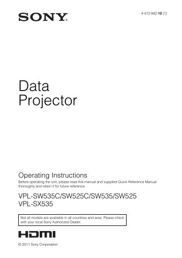 Data Projector - Sony