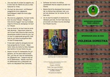violensia domestika - AATL