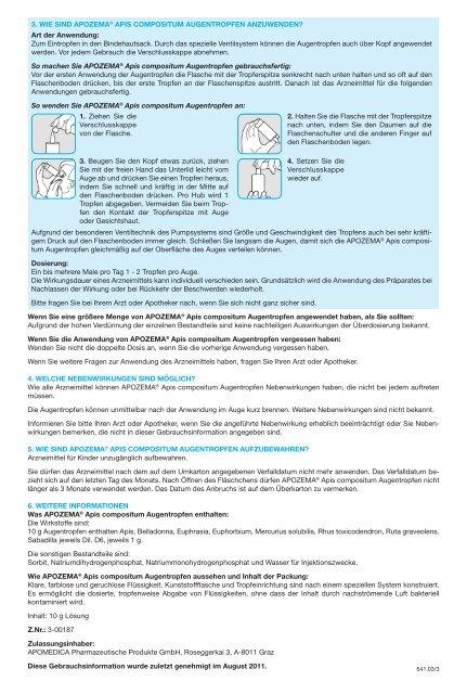 Augentropfen - Apomedica