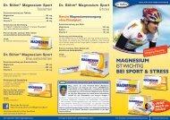 MAGNESIUM IST WICHTIG BEI SPORT & STRESS - Apomedica
