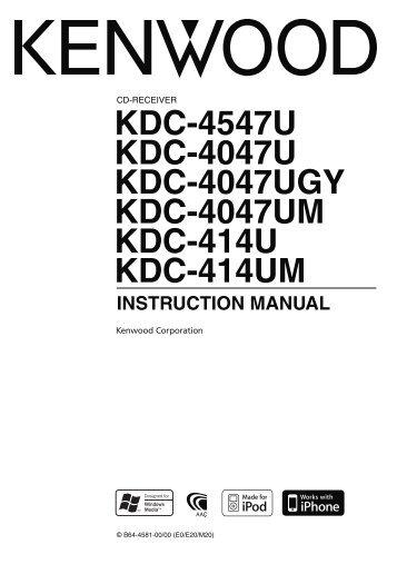 Kenwood kdc w4537u Manual