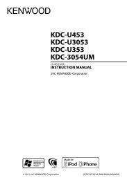 Instruction manual - Kenwood