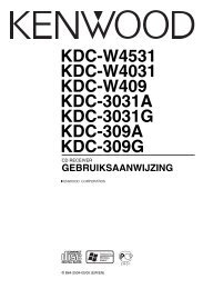 KDC-W4531 KDC-W4031 KDC-W409 KDC-3031A KDC ... - Kenwood