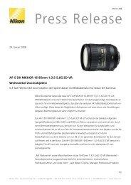 AF-S DX NIKKOR 16-85mm 1:3,5-5,6G ED VR Weitwinkel ... - Nikon