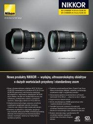 Nowe produkty NIKKOR — wydajny, ultraszerokokątny ... - Nikon