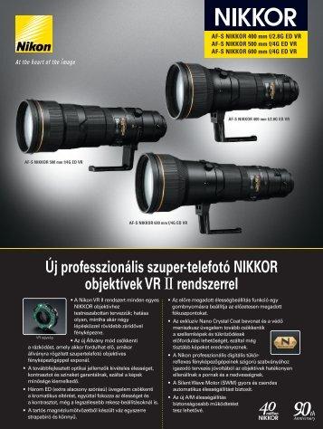 Új professzionális szuper-telefotó NIKKOR objektívek VR II ... - Nikon