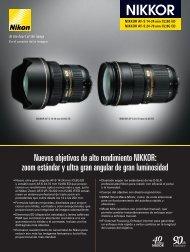 Nuevos objetivos de alto rendimiento NIKKOR: zoom ... - Nikon