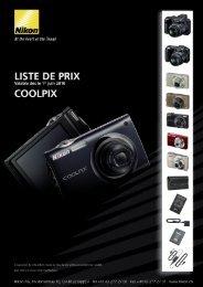 liste de prix - Nikon