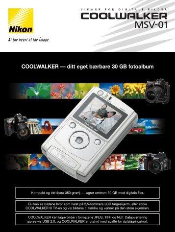 COOLWALKER — ditt eget bærbare 30 GB fotoalbum - Nikon