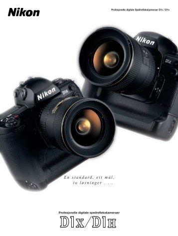 En standard, ett mål, to løsninger . . . - Nikon