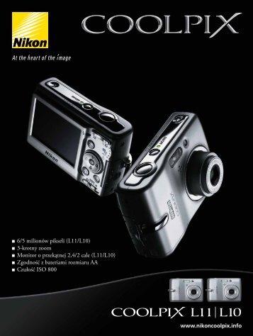 6/5 milionów pikseli (L11/L10) 3-krotny zoom Monitor o ... - Nikon