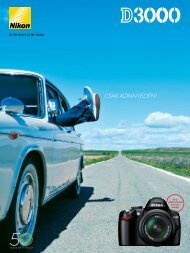 Töltse le a terméktájékoztatót - Nikon