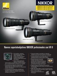 Nuevos superteleobjetivos NIKKOR profesionales con VR II - Nikon