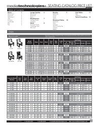 Seating Pricer - Library and Classroom Furniture / mediatechnologies