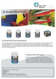 Flyer Dr. Bassleer Biofish Food - aqua united Gmbh