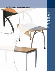 Tables Catalog - Library and Classroom Furniture / mediatechnologies