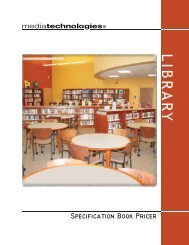 Library Pricer - Library and Classroom Furniture / mediatechnologies